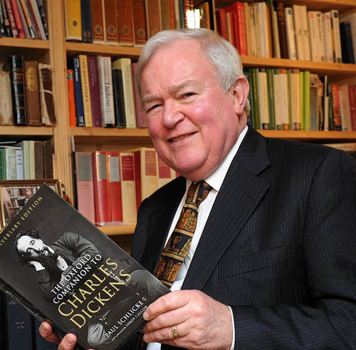 Dr Paul Schlicke, is one of the world's foremost Charles Dickens experts, is off to London to attend events at Westminster Abbey and Buckingham Palace to mark the 200th anniversary of Dickens' birth.  Picture by KENNY ELRICK       03/02/2012   .