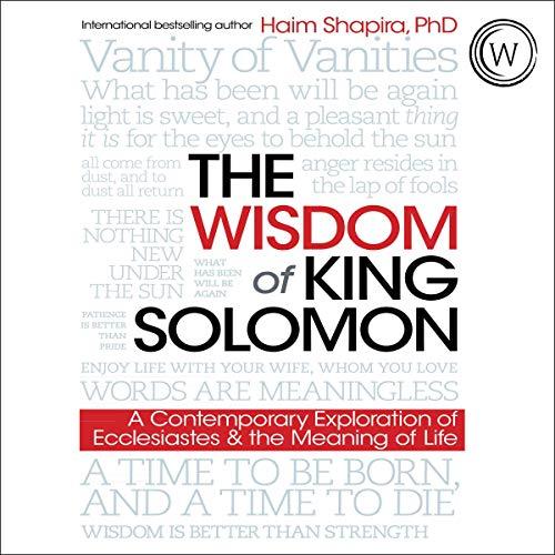 audiobook cover the wisdom of king solomon