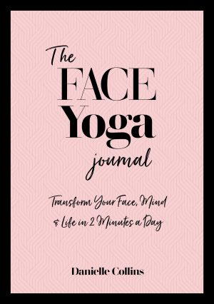 Book cover for The Face Yoga Journal by Danielle Collins